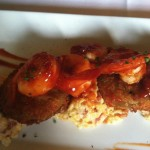 Grilled Barbeque Shrimp & Grits